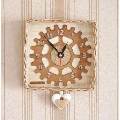 ساعت دیواری چوبی کودک- تم آبی