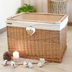 صندوق حصیری (طرح چوب و حصیر)