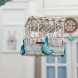 لوستر چوبی کودک- تم آبی
