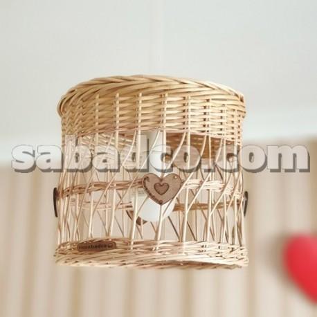 لوستر استوانه چوبی