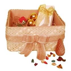 جعبه هدیه حصیری نخلی- تاشو